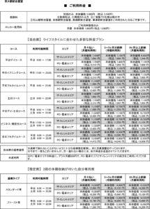 茨木駅前自習室 料金表