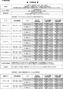 石山駅前自習室 料金表